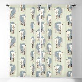 Whimsical Rhinoceros Blackout Curtain