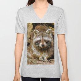 Extraordinary Animals - Raccoon Unisex V-Neck