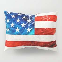 American Flag Art - Old Glory - By Sharon Cummings Pillow Sham