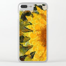 VG style fields of sunflowers Clear iPhone Case