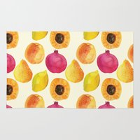 fruits Area & Throw Rugs featuring Fruits by Alexandra Dzh
