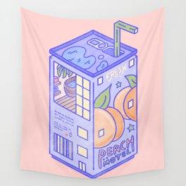 Peach Motel Wall Tapestry