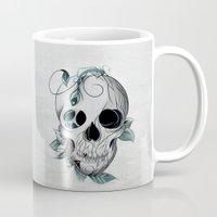 boho Mugs featuring Skull Boho  by LouJah