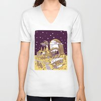 hippy V-neck T-shirts featuring Giant Hippy by Josh Quick