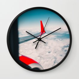 The Airplane's Wing (Color) Wall Clock