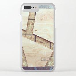 Geometric Wood Clear iPhone Case