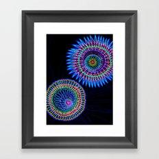 virus war color Framed Art Print