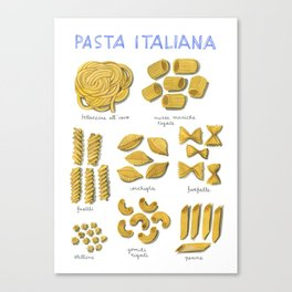 pasta italiana Canvas Print