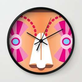 Zicatela Butterfly Invention Wall Clock