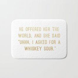 Whiskey Sour Bath Mat