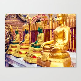 Golden Temple Buda Canvas Print
