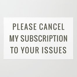 Subscription to your Issues Rug
