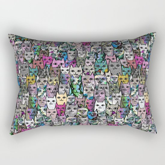Gemstone Cats CYMK Rectangular Pillow