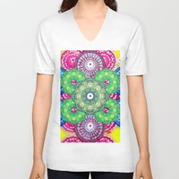 psychedelic V-neck T-shirts featuring psychedelic  by Thedevilguru