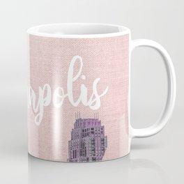 Minneapols Minnesota Skyline-Pink Tones Coffee Mug