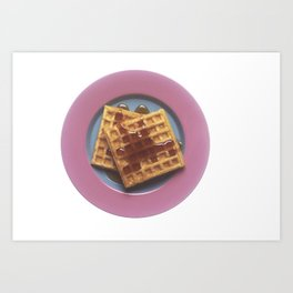 Waffles With Syrup Art Print