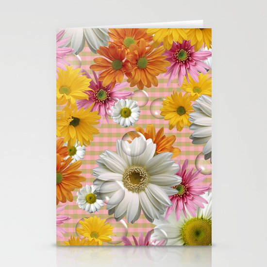 Retro Country Flowers Stationery Cards