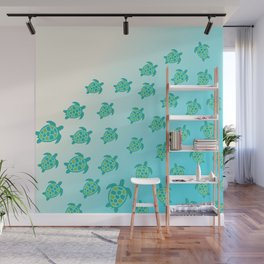 Turtles and the Ocean Wall Mural