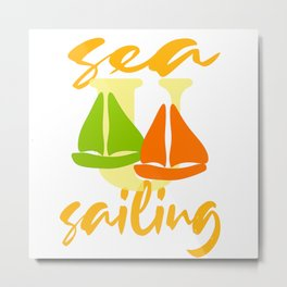 Sea U Sailing Metal Print
