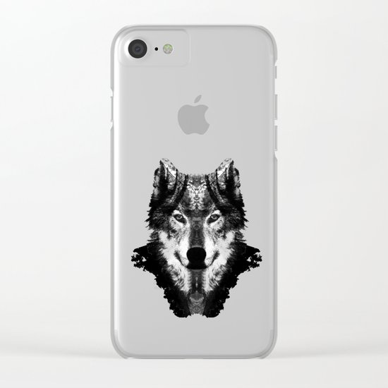 The Black Forest Wolf Clear iPhone Case