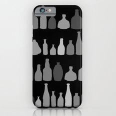 Bottles Black and White on Black iPhone 6s Slim Case