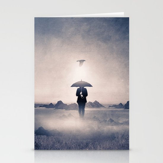 Waiting for the rain (colour option) Stationery Cards