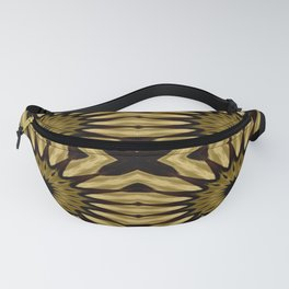 Subdued Gold Pinwheel Flowers Fanny Pack