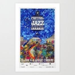 2008 Montreal Jazz Festival Advertising Gig Poster Art Print