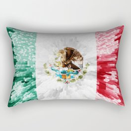 Extruded Flag of Mexico Rectangular Pillow