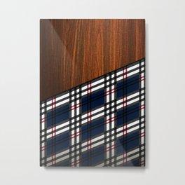 Wooden Scottish Tartan Metal Print