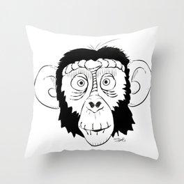 Monkey Head Throw Pillow