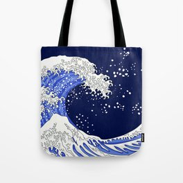 Great Blue Wave Tote Bag