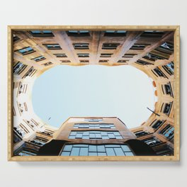 Looking Up in La Pedrera Serving Tray