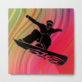 Snowboard Jump Metal Print