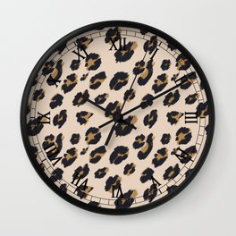 B&B Leopard Design Wall Clock