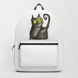 Big fat black cat Backpack