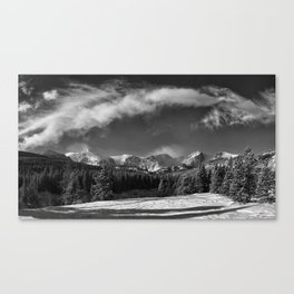 Rocky Mountan Park in Black and White Canvas Print