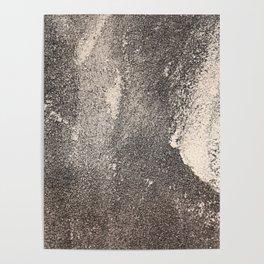 Sandpaper Attrition Rubbing Texture Poster