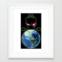 invader zim Framed Art Prints featuring Invader Zim by Proxish Designs