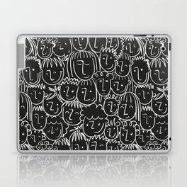 Black & White Hand Drawn People Pattern Laptop & iPad Skin