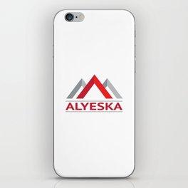Alyeska Alaska Ski Snowboard Skiing Trail Map Resort Anchorage Valdez iPhone Skin