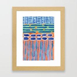 Blue Shapes Pattern Framed Art Print