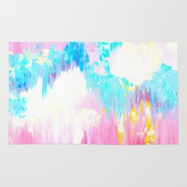 Abstract Pink Pastel Prints Rug
