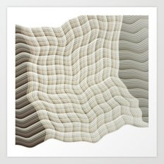 Wicker waves Art Print