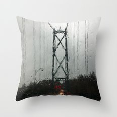 Raining Again  Throw Pillow