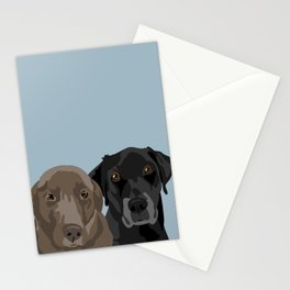 Two Labradors Stationery Cards