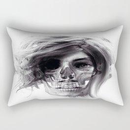 ABSTRACT GIRL SKULL PORTRAIT Rectangular Pillow