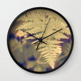 Forest Fern Wall Clock