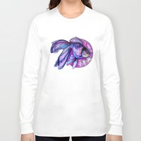 goldfish Long Sleeve T-shirts featuring Goldfish by Slaveika Aladjova