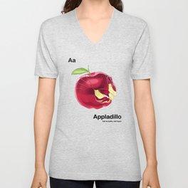 Aa - Appladillo // Half Armadillo, Half Apple Unisex V-Neck